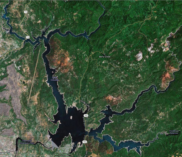 Lake Oroville Map