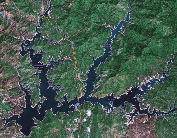 Shasta Lake Map